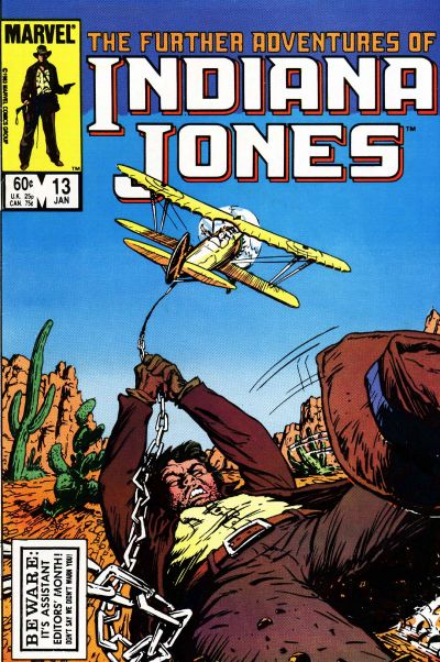 Cover for The Further Adventures of Indiana Jones (Marvel, 1983 series) #13 [Direct]