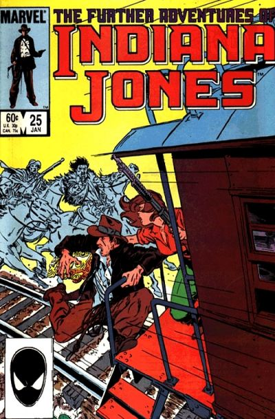 Cover for The Further Adventures of Indiana Jones (Marvel, 1983 series) #25 [Newsstand]