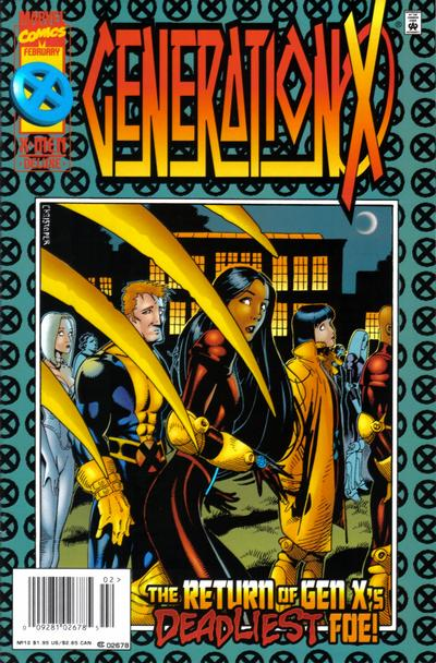Cover for Generation X (Marvel, 1994 series) #12 [Direct Edition]