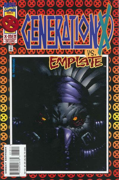 Cover for Generation X (Marvel, 1994 series) #13 [Direct Edition]