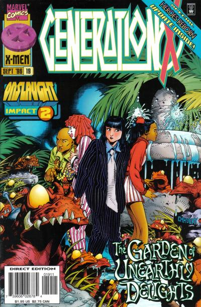 Cover for Generation X (Marvel, 1994 series) #19 [Direct Edition]