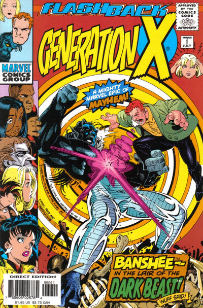 Cover for Generation X (Marvel, 1994 series) #-1 [Direct Edition]