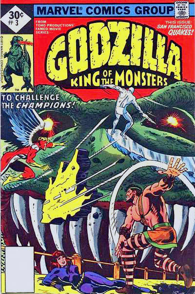 Cover for Godzilla (Marvel, 1977 series) #3 [30¢ Cover Price]