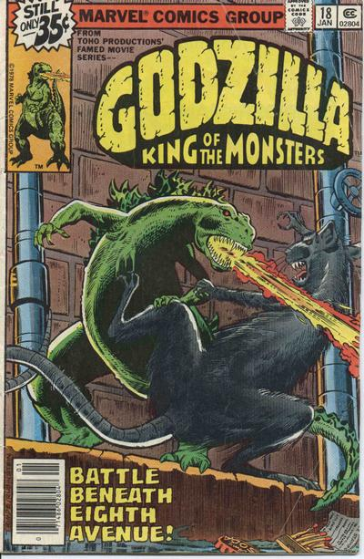 Cover for Godzilla (Marvel, 1977 series) #18