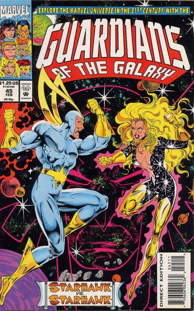 Cover for Guardians of the Galaxy (Marvel, 1990 series) #45