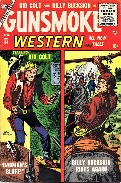 Cover for Gunsmoke Western (Marvel, 1955 series) #34