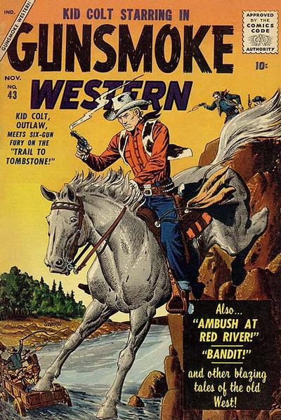 Cover for Gunsmoke Western (Marvel, 1955 series) #43