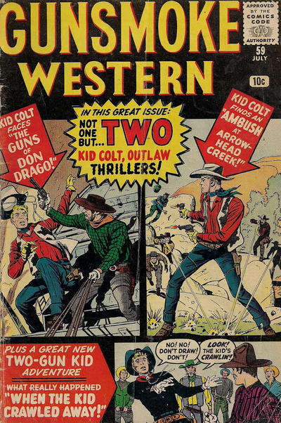 Cover for Gunsmoke Western (Marvel, 1955 series) #59