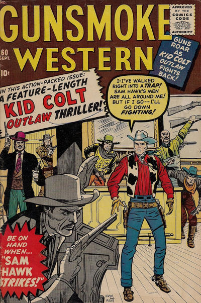 Cover for Gunsmoke Western (Marvel, 1955 series) #60