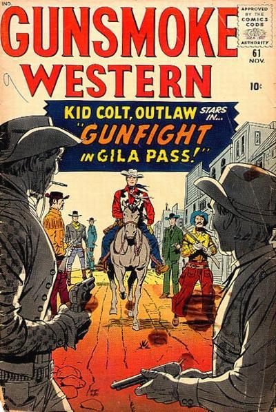 Cover for Gunsmoke Western (Marvel, 1955 series) #61