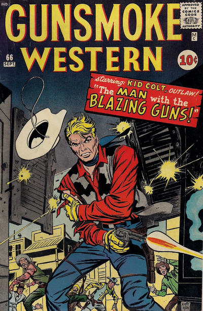 Cover for Gunsmoke Western (Marvel, 1955 series) #66
