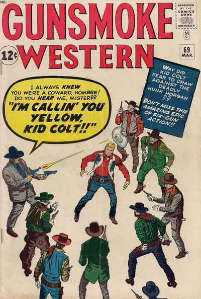 Cover for Gunsmoke Western (Marvel, 1955 series) #69