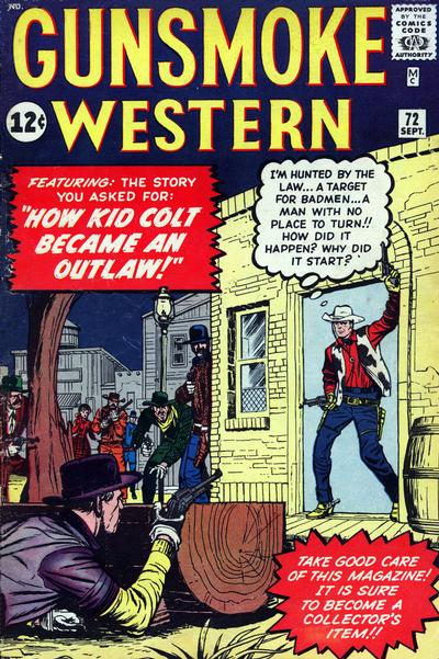 Cover for Gunsmoke Western (Marvel, 1955 series) #72