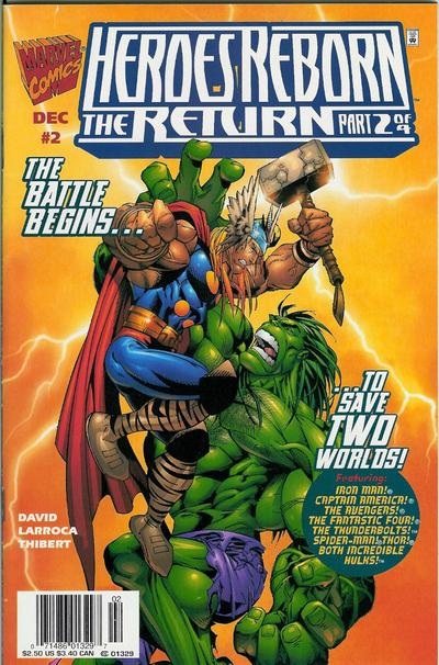 Cover for Heroes Reborn: The Return (Marvel, 1997 series) #2 [Direct Edition]