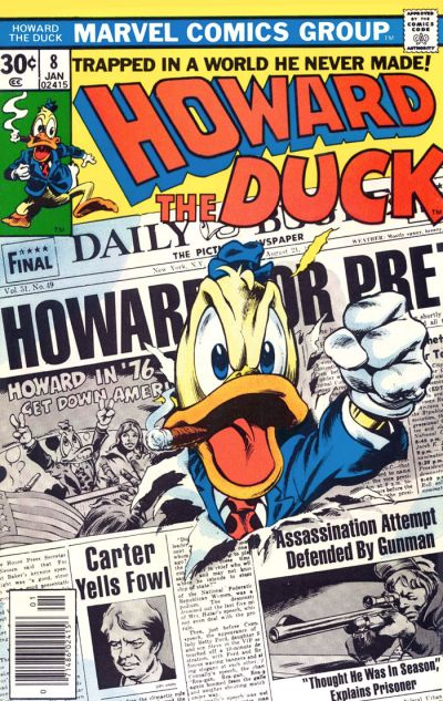 Cover for Howard the Duck (Marvel, 1976 series) #8 [Regular Edition]