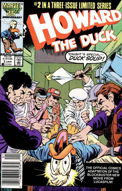Cover for Howard the Duck: The Movie (Marvel, 1986 series) #2 [Newsstand]