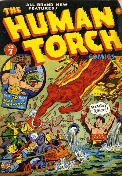 Cover for The Human Torch (Marvel, 1940 series) #7