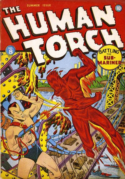 Cover for The Human Torch (Marvel, 1940 series) #8