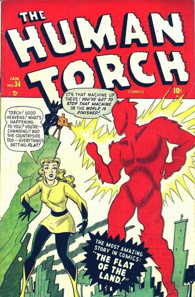 Cover for The Human Torch (Marvel, 1940 series) #34