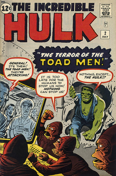 Cover for The Incredible Hulk (Marvel, 1962 series) #2 [British Price Variant]