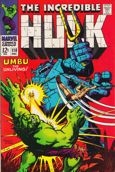 Cover for The Incredible Hulk (Marvel, 1968 series) #110