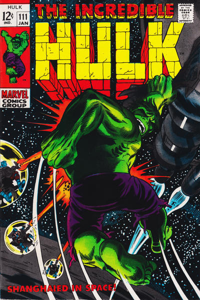 Cover for The Incredible Hulk (Marvel, 1968 series) #111