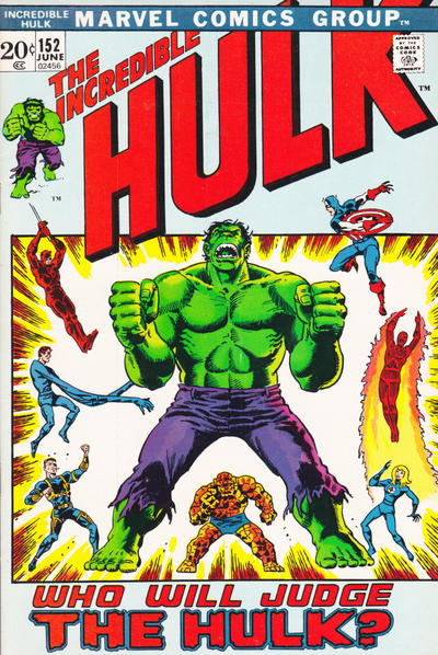 Cover for The Incredible Hulk (Marvel, 1968 series) #152 [Regular Edition]