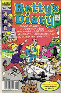 Cover Thumbnail for Betty's Diary (Archie, 1986 series) #13 [Regular Edition]