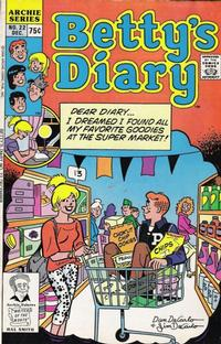 Cover Thumbnail for Betty's Diary (Archie, 1986 series) #22 [Direct]