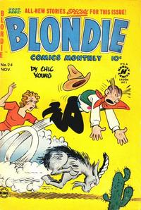 Cover Thumbnail for Blondie Comics Monthly (Harvey, 1950 series) #24