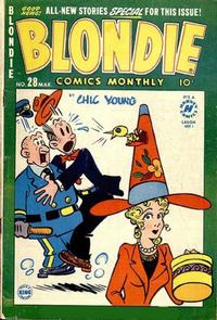 Cover Thumbnail for Blondie Comics Monthly (Harvey, 1950 series) #28
