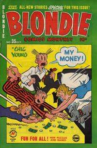 Cover Thumbnail for Blondie Comics Monthly (Harvey, 1950 series) #35