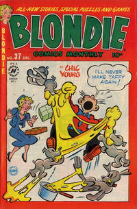 Cover Thumbnail for Blondie Comics Monthly (Harvey, 1950 series) #37