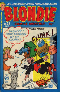 Cover Thumbnail for Blondie Comics Monthly (Harvey, 1950 series) #38