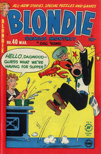 Cover Thumbnail for Blondie Comics Monthly (Harvey, 1950 series) #40