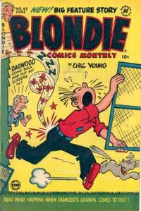 Cover Thumbnail for Blondie Comics Monthly (Harvey, 1950 series) #43