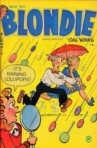 Cover Thumbnail for Blondie Comics Monthly (Harvey, 1950 series) #47