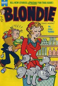Cover Thumbnail for Blondie Comics Monthly (Harvey, 1950 series) #64