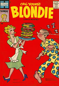 Cover Thumbnail for Blondie Comics Monthly (Harvey, 1950 series) #102