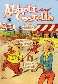 Cover Thumbnail for Abbott and Costello Comics (St. John, 1948 series) #23
