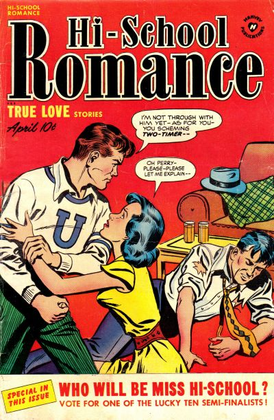Cover for Hi-School Romance (Harvey, 1949 series) #8