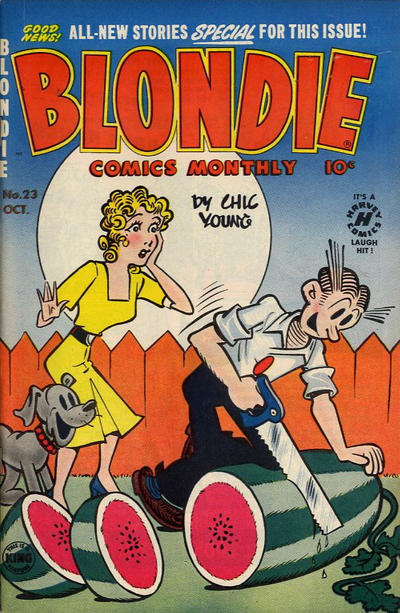 Cover for Blondie Comics Monthly (Harvey, 1950 series) #23