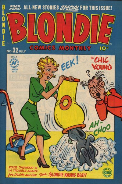 Cover for Blondie Comics Monthly (Harvey, 1950 series) #32