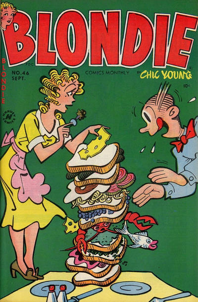 Cover for Blondie Comics Monthly (Harvey, 1950 series) #46
