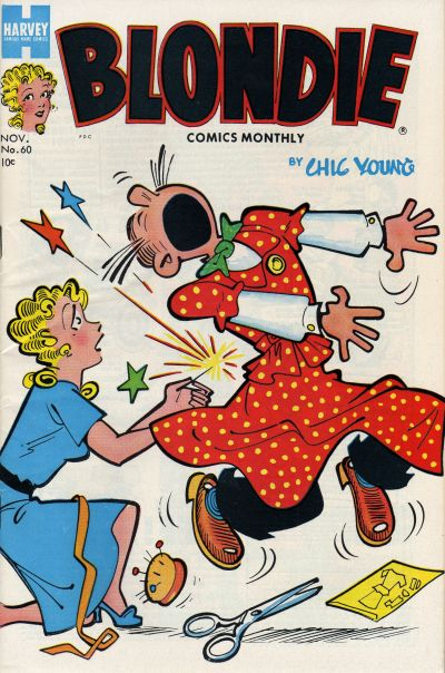 Cover for Blondie Comics Monthly (Harvey, 1950 series) #60