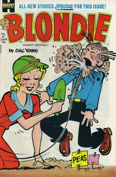 Cover for Blondie Comics Monthly (Harvey, 1950 series) #67