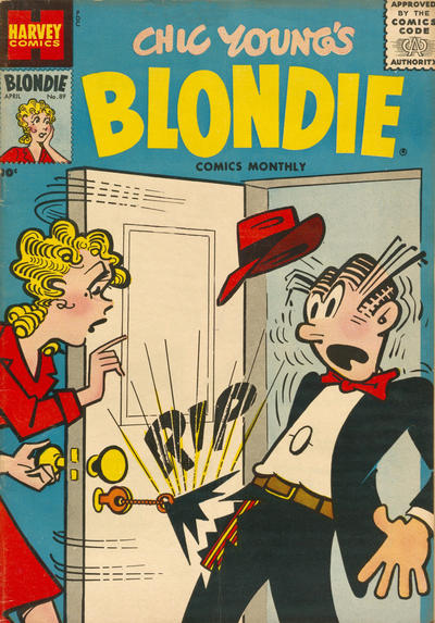 Cover for Blondie Comics Monthly (Harvey, 1950 series) #89
