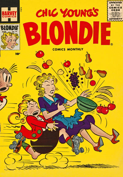 Cover for Blondie Comics Monthly (Harvey, 1950 series) #91