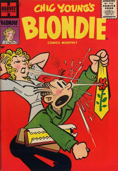 Cover for Blondie Comics Monthly (Harvey, 1950 series) #96