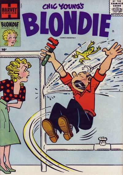 Cover for Blondie Comics Monthly (Harvey, 1950 series) #98